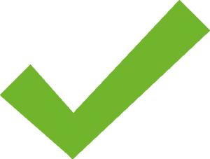 Grafik Grüner Haken